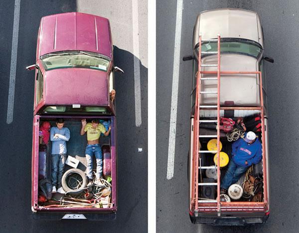 Sleeping Carpoolers :: fotografías de Alejandro Cartagena