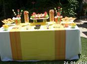 Merienda cumpleaños: buffet chuches sencillo