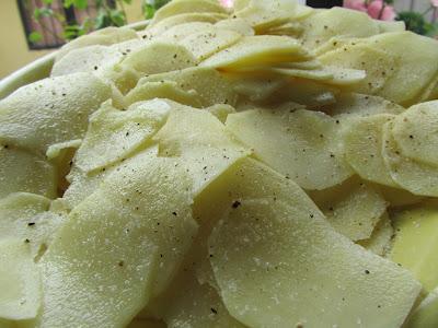 Lasaña de carne y patatas