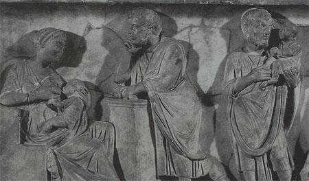 Plutarco, Catón y la lactancia materna