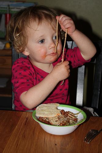 Los niños comen la misma cantidad tanto si se sirven solos como si les sirven la comida
