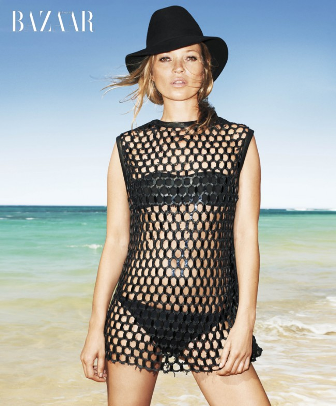 Kate Moss, transparencias cara y cruz