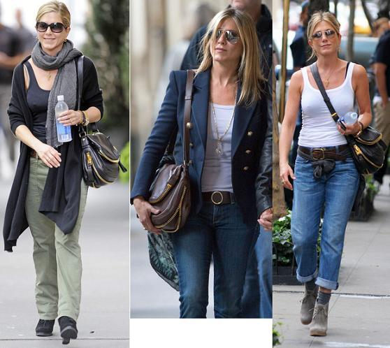 Zapping de looks: Jennifer Aniston y sus carteras Tom Ford