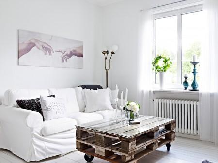 Peque o estudio decorado en blanco con contrastes paperblog - Como decorar un estudio pequeno ...