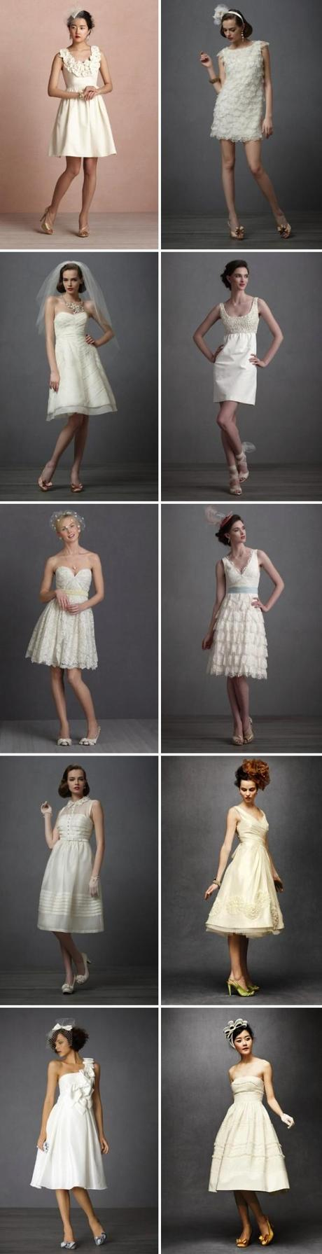 Vestidos cortos de BHLDN/Reception dresses from BHLDN