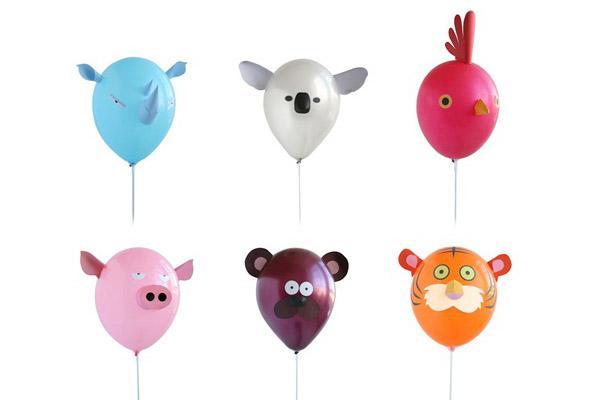 globos de colores de animales