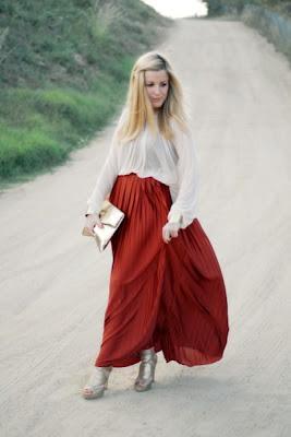 Combina tu falda larga