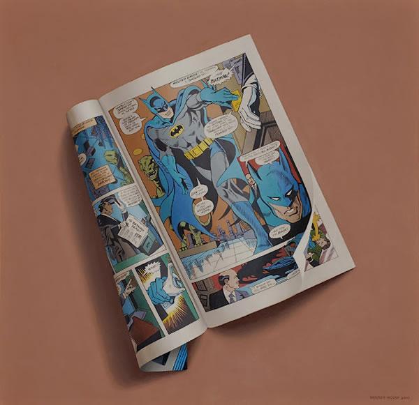 Sharon Moody :: pintura hiperrealista de cómics