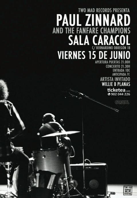 Paul Zinnard presenta su nuevo disco en Sala Caracol (Madrid)