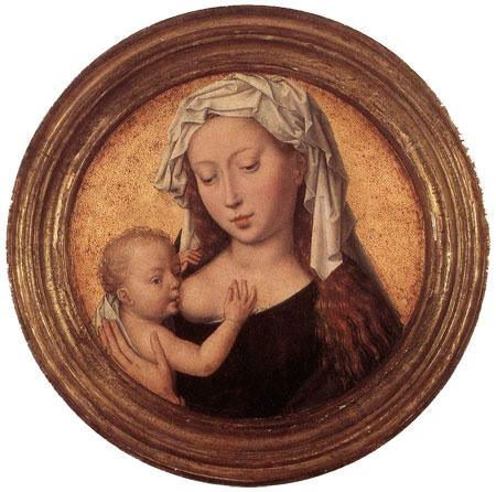 Virgen con el niño. Hans Memling, 1487-90.
