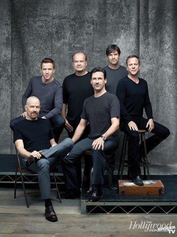 Mesa redonda con Bryan Cranston, Jon Hamm, Kelsey Grammer, Kiefer Sutherland...