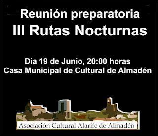 Participa en las III Rutas Nocturnas de Almadén