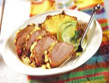 Cerdo asado Adobado con  piña y chile