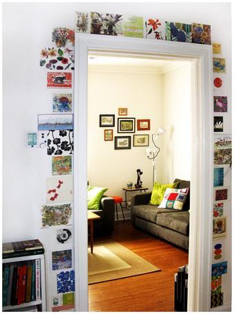 Azulejos para alegrar el marco de una puerta