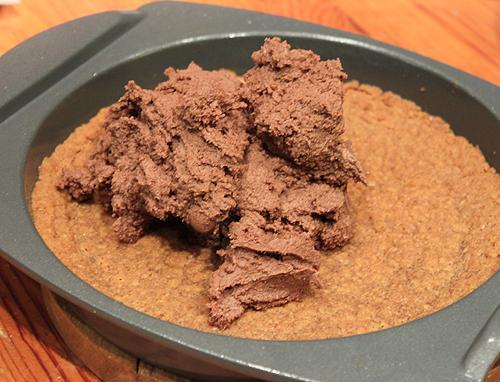 Receta: pastel de queso con relleno de chocolate