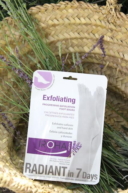 Calcetines exfoliantes progresivo de Lavanda by Iroha Nature