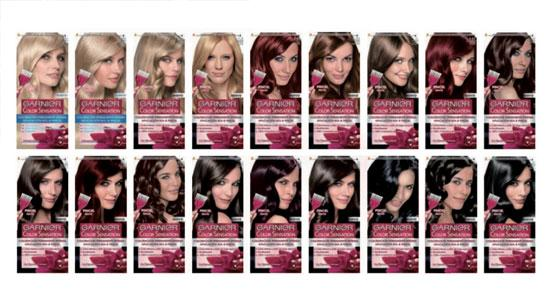 18 tonos Color Sensation de Garnier