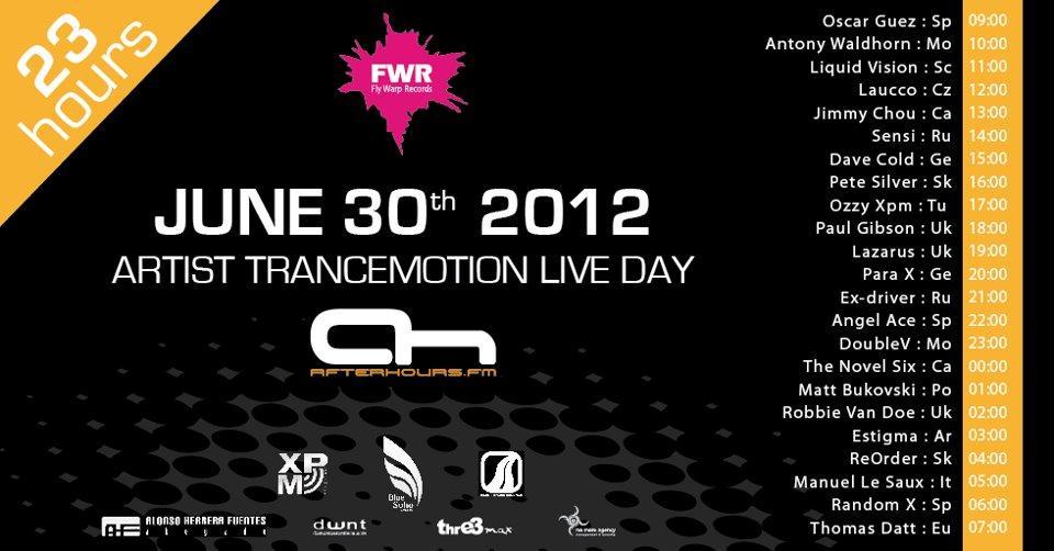Maratón trance en Trancemotion Live Day
