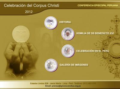 CONFERENCIA EPISCOPAL RECOPILA TODA LA INFORMACIÓN REFERIDA A LA CELEBRACIÓN DEL CORPUS CHRISTI EN EL PERÚ