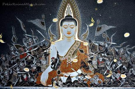Pintura Buda Chiang Rai1 Chiang Rai: Templo Negro, Templo Blanco.