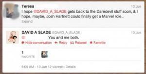 David Slade podría haber revelado a quién quiere para ser Daredevil