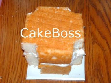 esquinas de las torres de corte de la torta