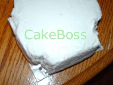 Colocar el pastel en el nivel superior