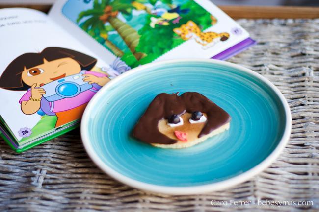 Cocinar con ni os pancakes de dora la exploradora paperblog - Dora la exploradora cocina ...