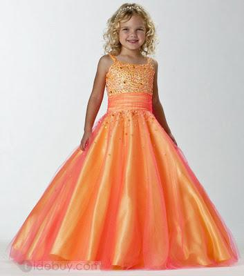 Vestidos de fiesta para nina moda 2012