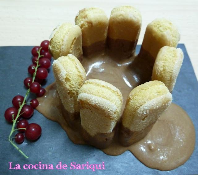 Deconstrucci n de mini charlota de chocolate para cwk for Cocina de deconstruccion