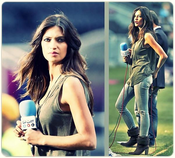 El estilo de Sara Carbonero en la Eurocopa 2012