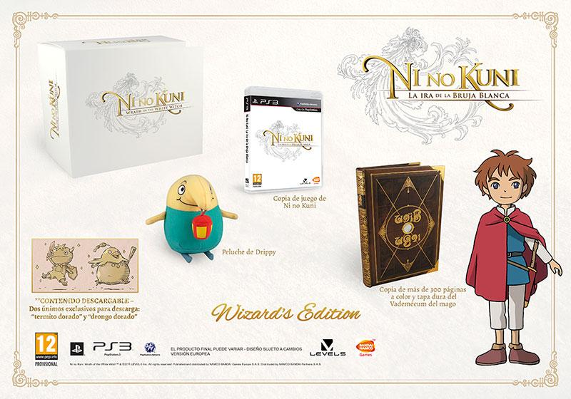 ninokuni edicion coleccionista wizard contenido Namco Bandai presenta la Ni no Kuni: Wrath of the White Witch   Wizards Edition