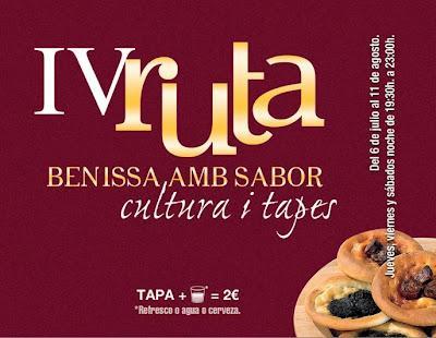 Benissa. IV Ruta Benissa amb sabor, Cultura i Tapes