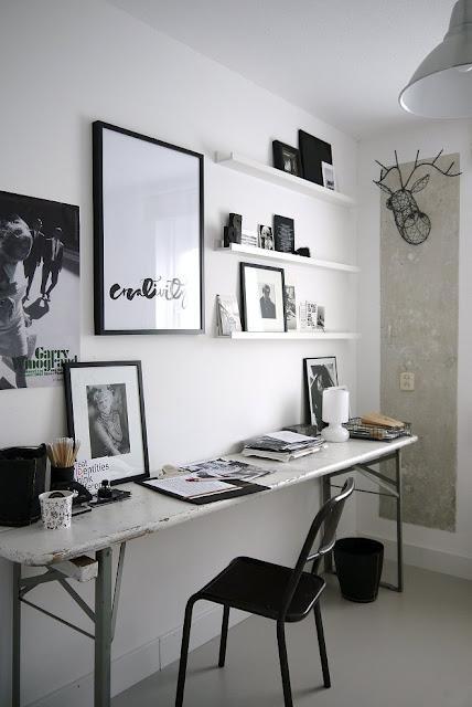 Antes y después: Un escritorio en blanco y negro - Paperblog