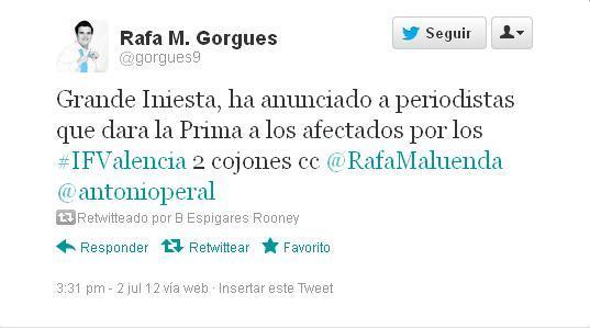 Rumor Iniesta