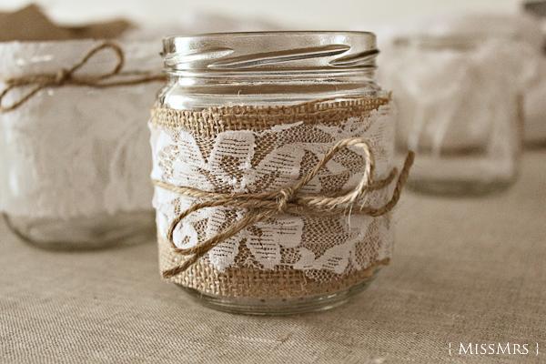 frascos decorados para bodas imagui On tarros de vidrio decorados