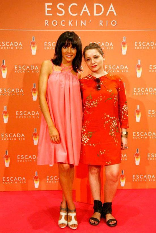 Arantza con Raquel en la presentación de Escada Rockin' Rio