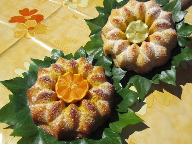 Bizcochos gemelos naranja y limón