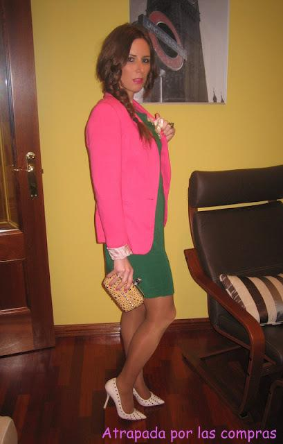 FUCHSIA & GREEN FOR SATURDAY NIGHT