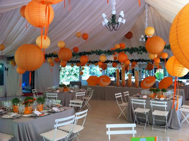 Boda en naranja paperblog - Decoracion naranja ...