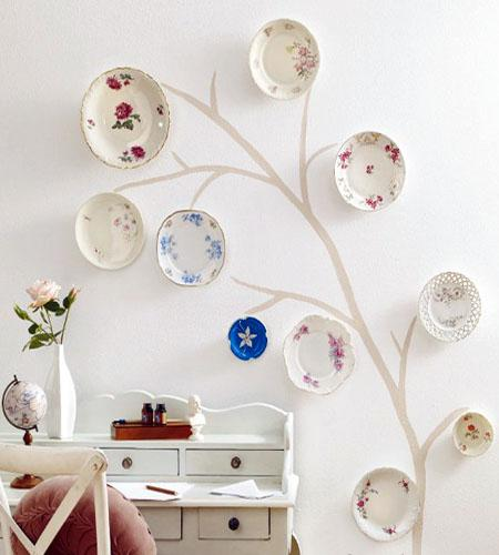 Decorar Pared Arbol ~ Colocar los platos en la pared como un ?rbol  Paperblog