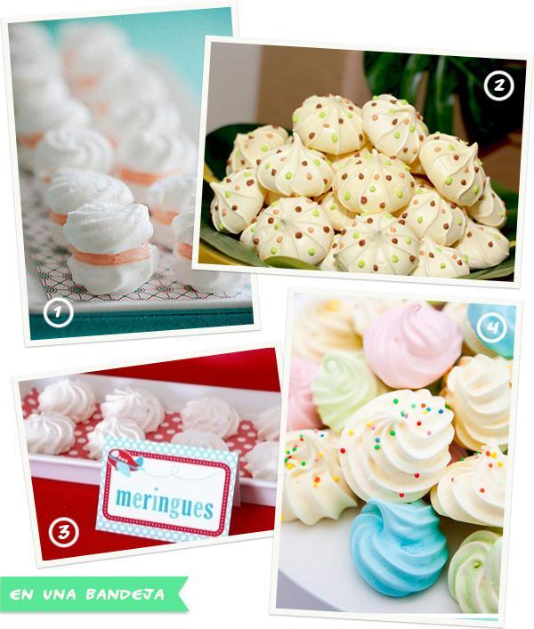 Mesas de dulces: merengues