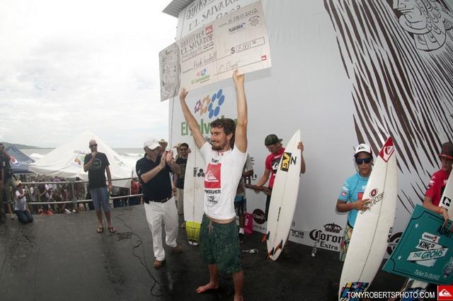 Hank Gaskell gana la Copa Quiksilver El Salvador 2012