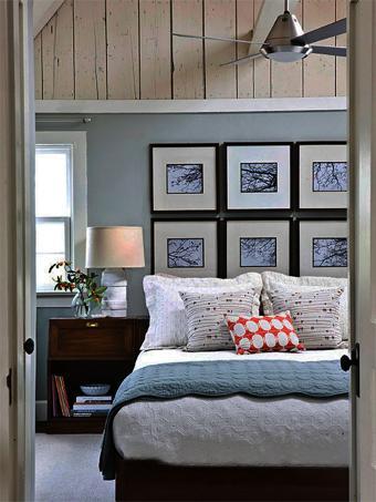 Una cabecera hecha con cuadros paperblog - Cuadros cabecera cama ...