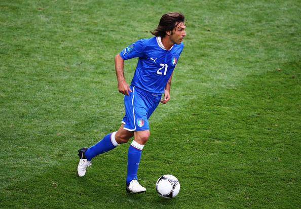 Andrea Pirlo Andrea Pirlo of Italy on the ball during the UEFA EURO 2012 group C match between Italy and Croatia at The Municipal Stadium on June 14, 2012 in Poznan, Poland.