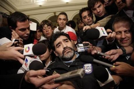 El primer borrador de Maradona