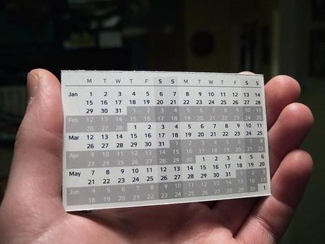 Calendario compacto