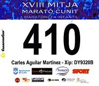 Domingo, 14 de marzo de 2010 - XVIII Mitja Marató de Cunit.. What a Surprise...!! What Happened With My Last Half Marathon..?? Maybe I'm In A Seventh Sky...!!