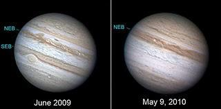 Júpiter ha perdido una banda de nubes