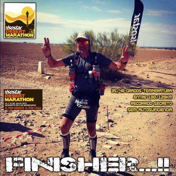 A veces, sólo a veces... Los sueños se cumplen...!! Isostar Desert Marathon 2012 (114 km desierto de Los Monegros).. SOY FINISHER...!!!